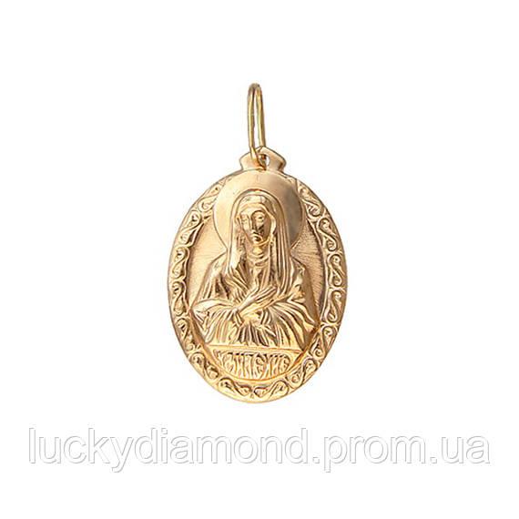 Золота підвіска-ікона Матір Божа