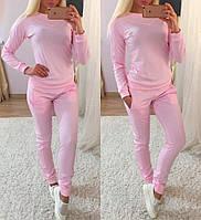 Розовый спортивный костюм женский