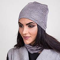 Комплект из шапки и хомута для женщин на весну 2017 - Артикул 2063a