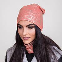 Комплект для женщин шапка + хомут в розницу - Артикул 2062b