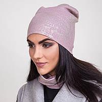 Весенний комплект для женщин шапка + хомут в розницу - Артикул 2062с