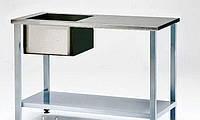 Стол производственный с мойкой 1200х600 мм