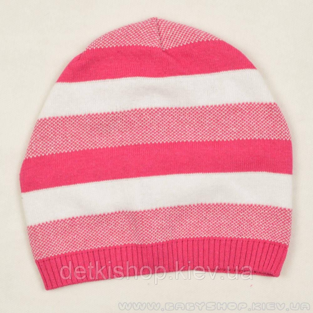 Шапочка на девочку «Полоски розовые» (модель 1)