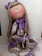 """Декор """"Hand made""""для вашего дома-""""большая лялька с вазоном"""", фото 1"""
