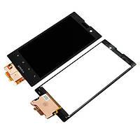 Дисплей Sony LT28i (Xperia ion) с сенсорным экраном (черный)