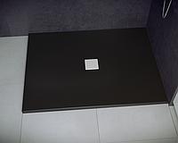 Душевой прямоугольный акриловый поддон NOX UltraSlim BLACK 130х90х3,5 BESCO PMD PIRAMIDA ультратонкий