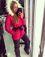 """Модный, женский, лыжный костюм осень-зима """"Лаке на двойном силиконе, куртка + штаны""""  РАЗНЫЕ ЦВЕТА"""