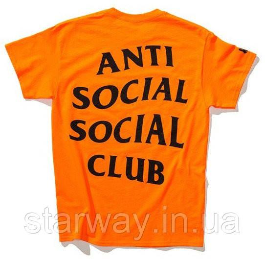 Футболка logo A.S.S.C. Paranoid | Anti Social social club orange оригинальная бирка