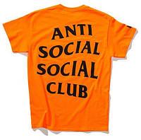 Футболка logo A.S.S.C. Paranoid | Anti Social social club orange оригинальная бирка, фото 1