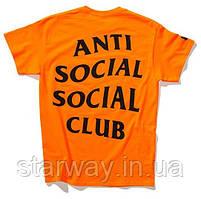 Футболка A.S.S.C. Paranoid   Anti Social social club orange оригинальная бирка