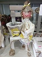 "Декор для вашего дома-""лялька с вазоном"", фото 1"
