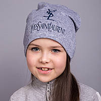 Брендовая шапка YSL для девочек на весну 2017 в розницу - Артикул 2052