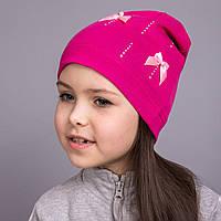 Весенняя трикотажная шапка для девочек 2017 в розницу - Артикул 2066