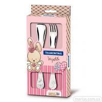 66973/015 Набор столовых приборов Tramontina baby Le Petit pink