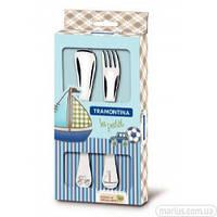 66973/010 Набор столовых приборов Tramontina baby Le Petit blue