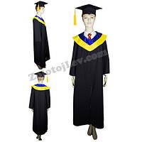 Мантия выпускника с сине-желтым воротником