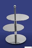 2 Стойка фуршетная - диски смещенные 360/360/360*615 мм