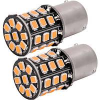 Светодиодные лампы LED PY21W (33-SMD)(12V)(2835)(Желтый), фото 1