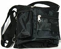 Сумка универсальная на шею из текстиля (черный), фото 1