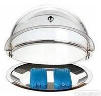 419201 Витрина круглая с пластиковой подвижной крышкой 380*240 мм