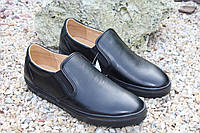 Мужские туфли Falcon, спортивные, натуральная кожа, черные