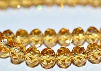 Бусины хрусталь, 6 мм, золотистый  5_24_114