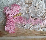 Декоративная лента Ромашки розовые 1,9 см, 1 ярд