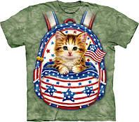3-D футболка PATRIOTIC BACKPACK KITTEN