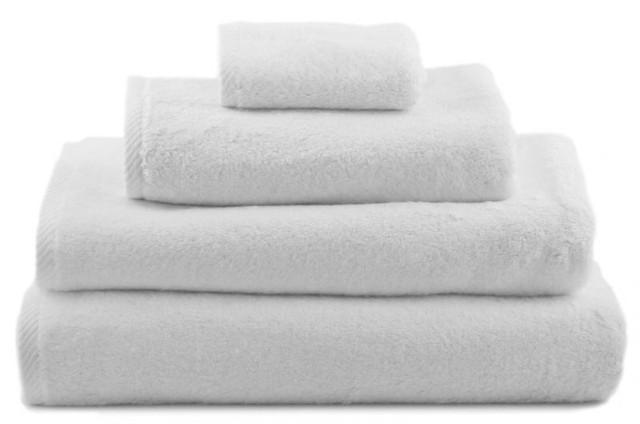 Полотенца махровые, белые без бордюра, плотность 530