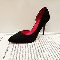 Женские туфли на шпильке, деленки