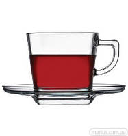 95307 Чашка 215мл / 135мм с блюдцем прозрачная