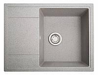 Кухонная мойка из искусственного камня (гранитная) Оптима серый
