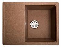 Кухонная мойка из искусственного камня (гранитная) Оптима терракот