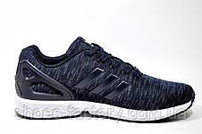 Кроссовки мужские в стиле Adidas ZX Flux Weave, Dark Blue\White, фото 3