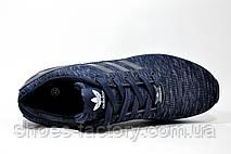Кроссовки мужские в стиле Adidas ZX Flux Weave, Dark Blue\White, фото 2