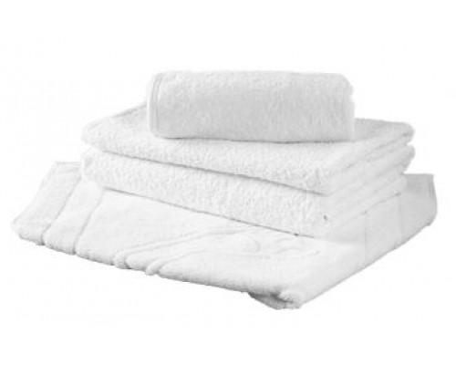 Полотенца махровые, белые без бордюра, плотность 480