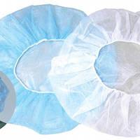 """Шапки-берети Шарлот, 53 см/білі, блакитні/, н/стерильн, """"Медиком"""""""