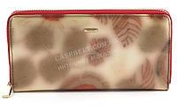 Стильный удобный женский лаковый кожаный кошелек барсетка высокого качества H. VERDE art. 2480-D57 розовый