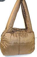 Дутые стеганные сумки под пуховик МАЛЕНЬКИЙ (ЗОЛОТОЙ), фото 1