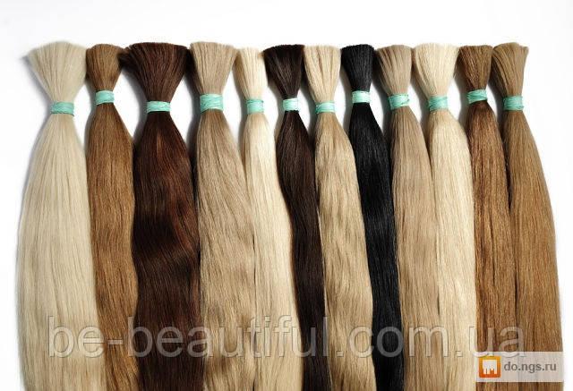 Натуральные волосы в срезах,длина 45-50 см, 100 грамм