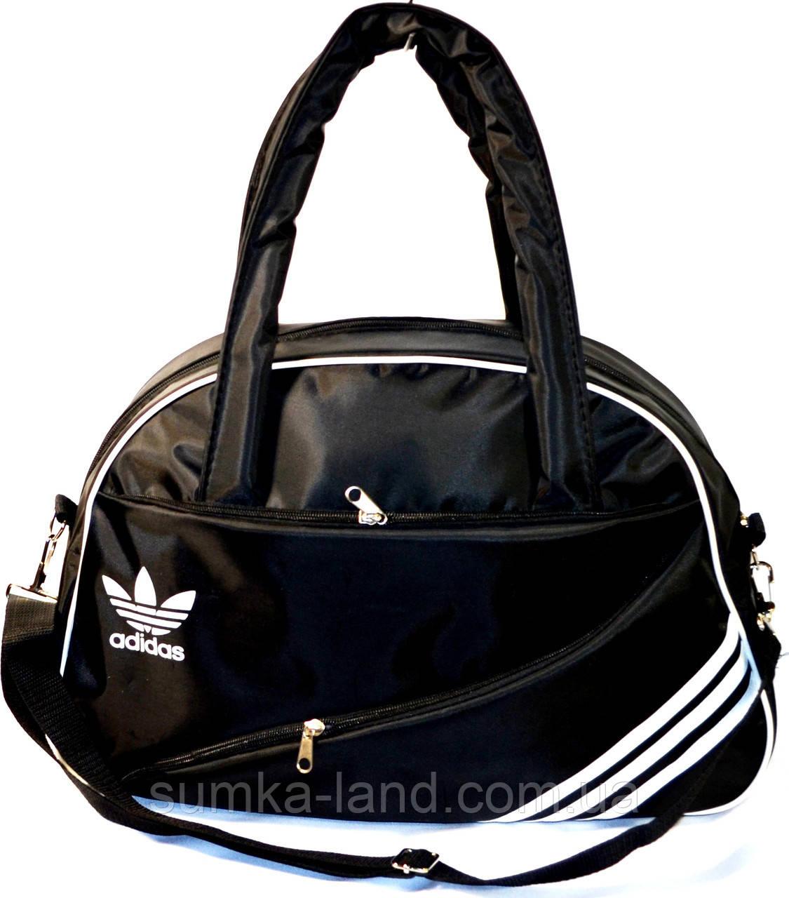 Спортивная сумка Adidas (черный с белым)