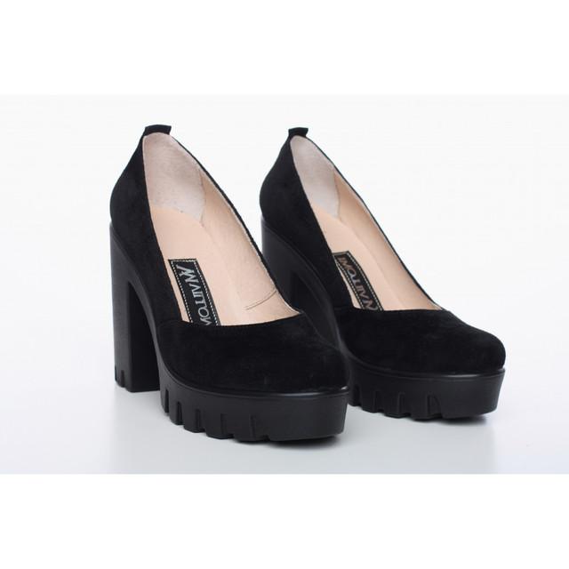 a633c2fb1c76 Замшевые туфли черные 818-13CH 40 размера, цена 1 115 грн., купить в ...