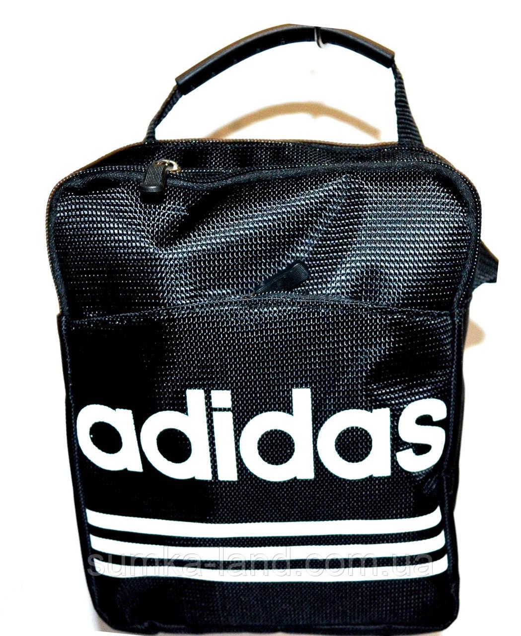 Мужская барсетка Adidas большая (черная)