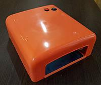 УФ лампа для сушки геля, гель-лака на 36 Вт, оранжевая