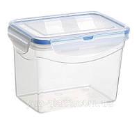 """Емкость для хранения 1800 мл  120x185x115 с защелками герметичная из пищевого пластика  """"M-492""""."""