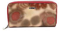 Стильный удобный женский лаковый кожаный кошелек барсетка высокого качества H. VERDE art. 2547-D57 розовый