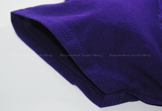 Фиолетовая классическая футболка