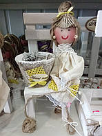 "Декор для вашего дома-""лялька с вазоном"""