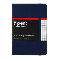 Блокнот на резинке A6 Axent Partner 8301 (96 листов) кремовая бумага, обложка твердая виниловая, синий