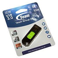 Флешка USB 3.0 64Gb Team C145 Green / TC145364GG01